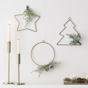 Hanging Christmas Hoop Decorations and Foliage - Ginger Ray