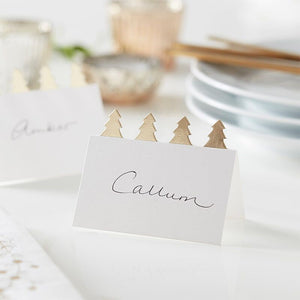 Christmas Tree Place Cards With Gold Foil - Ginger Ray