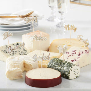 Gold Cheese Board Party Food Picks - Ginger Ray
