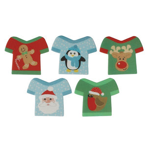 Christmas Jumper Cake Toppers - 10 Pack