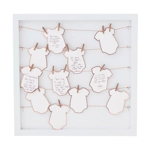 Alternative Babygrow Frame Guest Book - Twinkle Twinkle Range by Ginger Ray