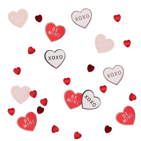 Heart Shaped Confetti - Be My Valentine Range by Ginger Ray