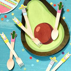 Wooden Cutlery - Viva La Fiesta Range by Ginger Ray