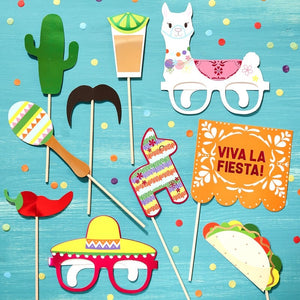 Viva La Fiesta Mexican Photo Booth Party Props - Viva La Fiesta Range by Ginger Ray