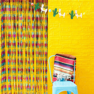 Multi Coloured Foil Curtain Backdrop - Viva La Fiesta Range by Ginger Ray