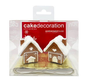 Gingerbread Village Cake Decoration Set