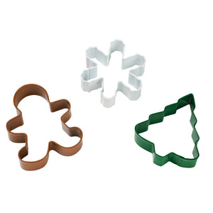 Wilton Christmas Holiday Cookie Cutter Set - Tree - Snowflake - Gingerbread Man