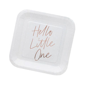 Hello Little One Paper Plates by Hootyballoo
