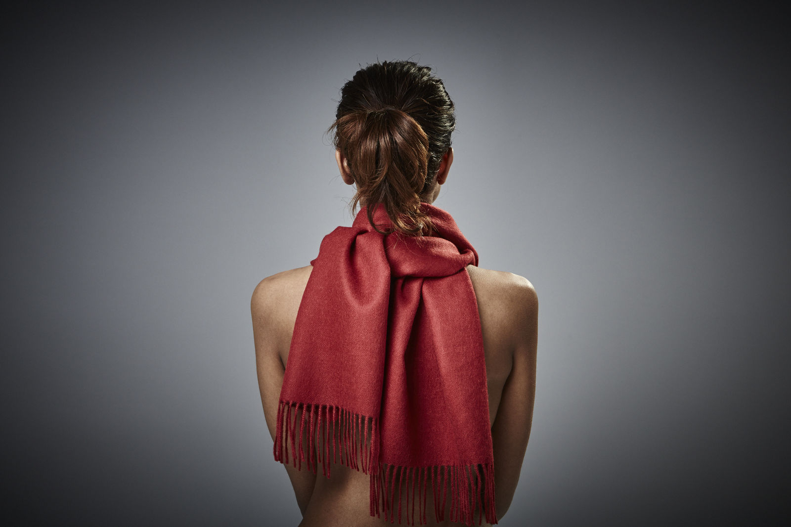 Lima - Baby Alpaca Scarf - Blood Red