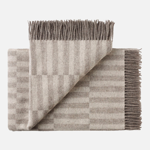 Stockholm Throw - Grey White
