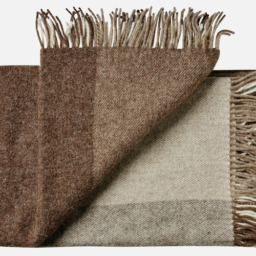 Tunø throw — Camel & Brown Blocks