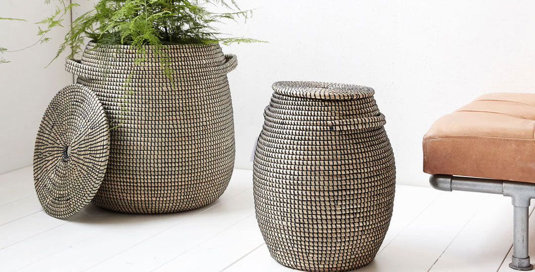Wicker Storage Baskets & Planters