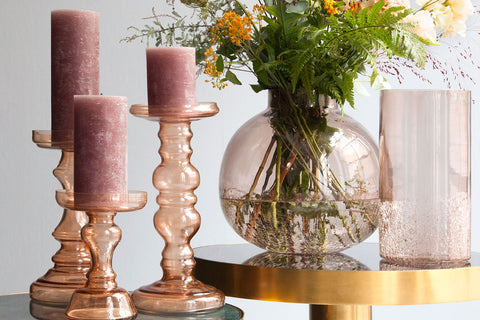 Blush Candle Holders by Cozy Living