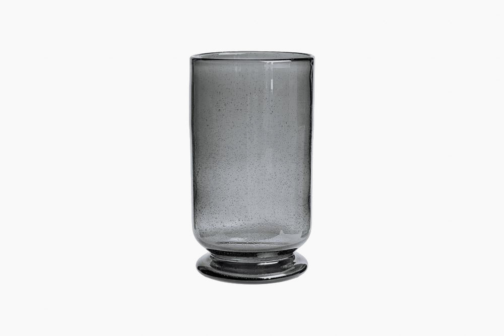 bubbled glass hurricane vase