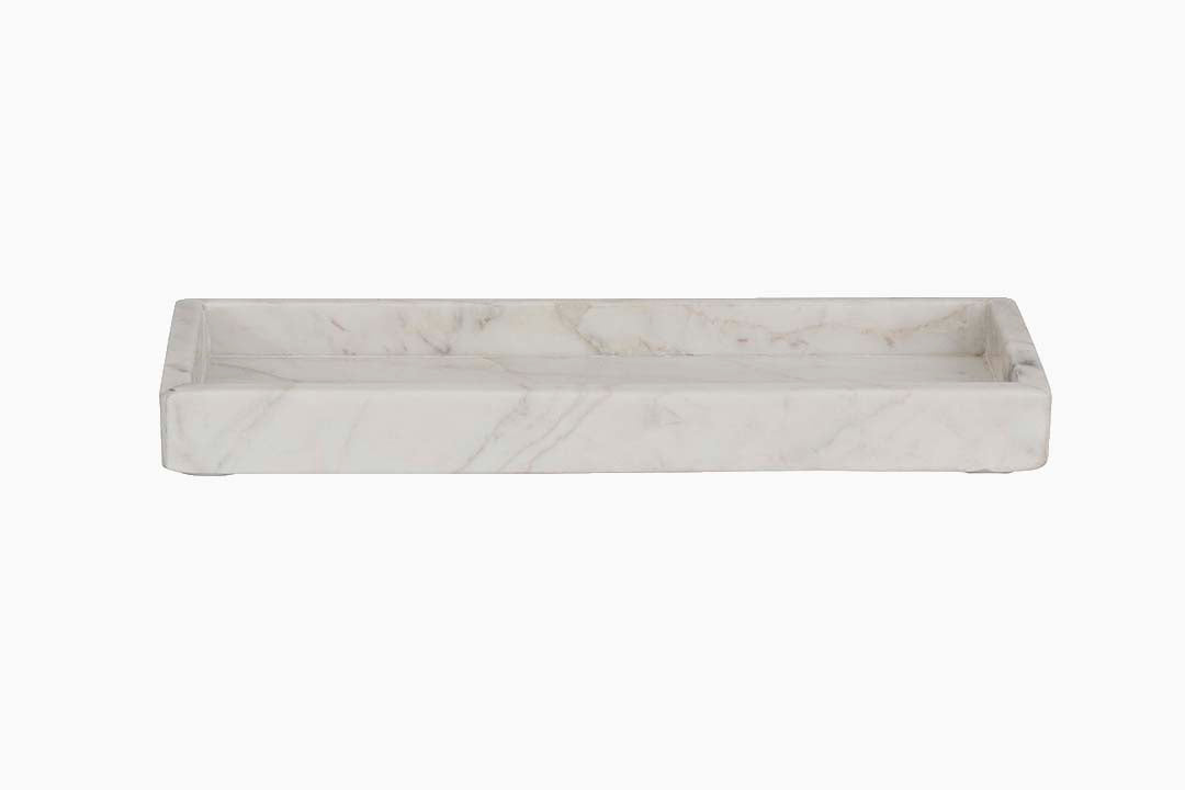 White Marble Bathroom Accessories Tray