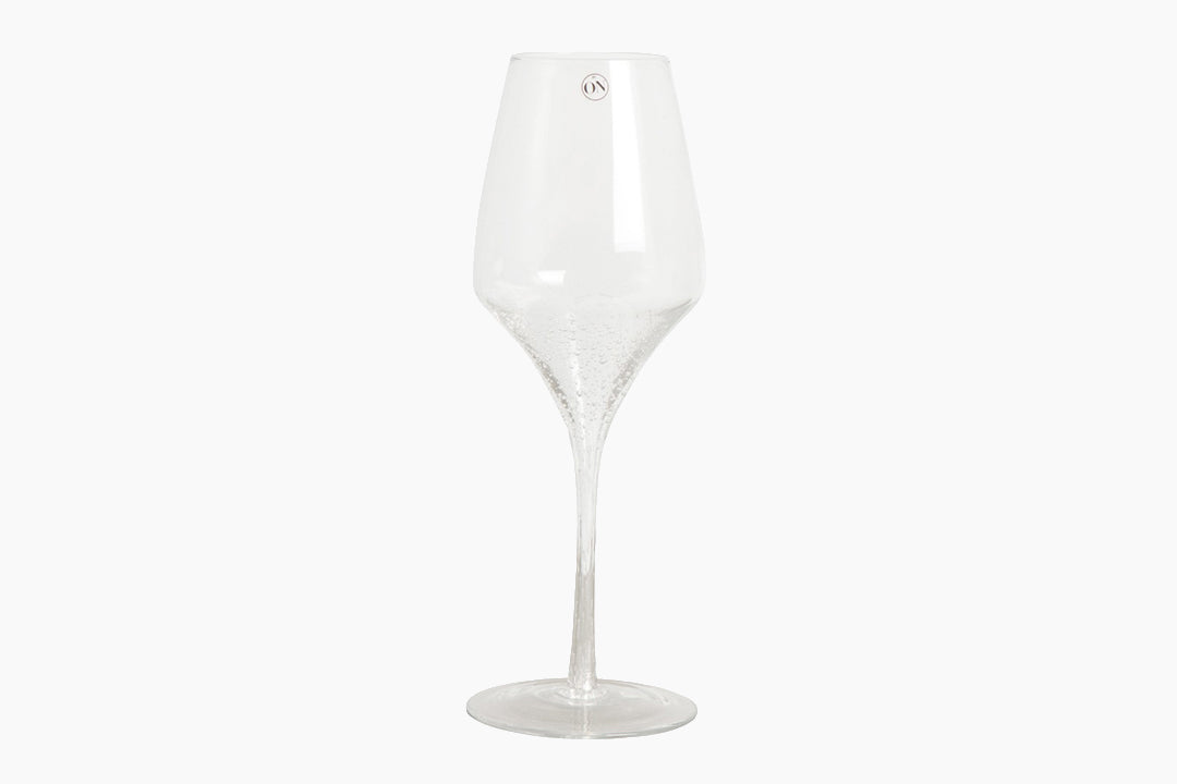 Wine glasses with bubble design by On Interior