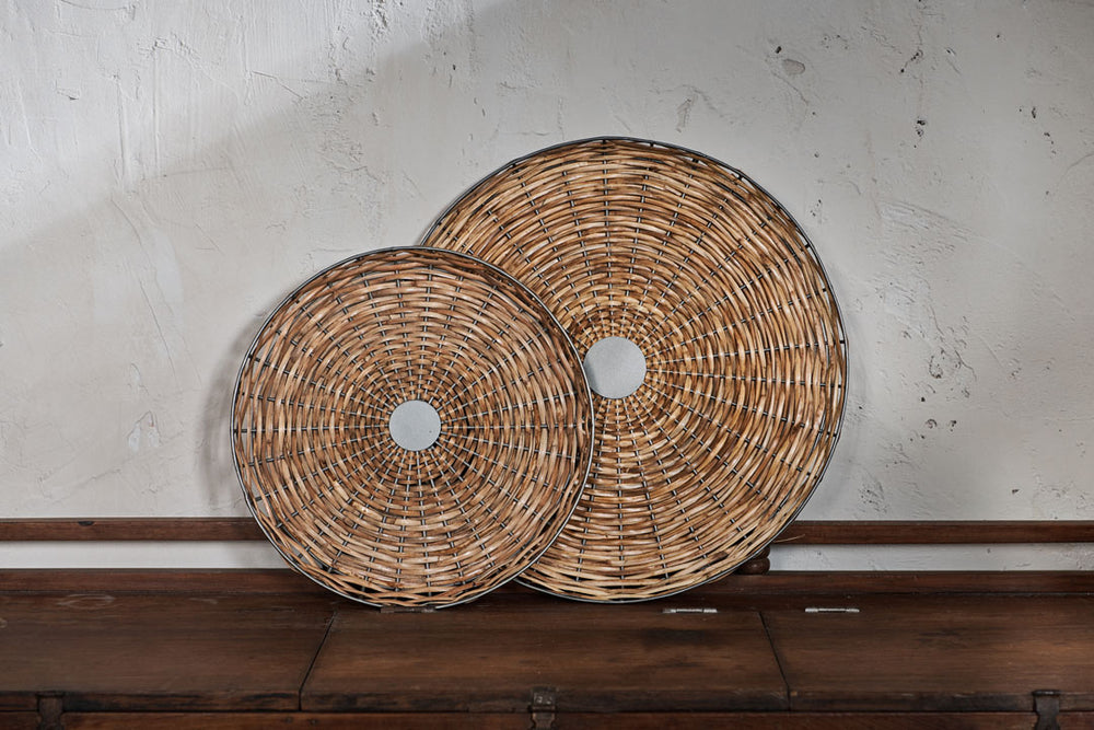 natural cane tray