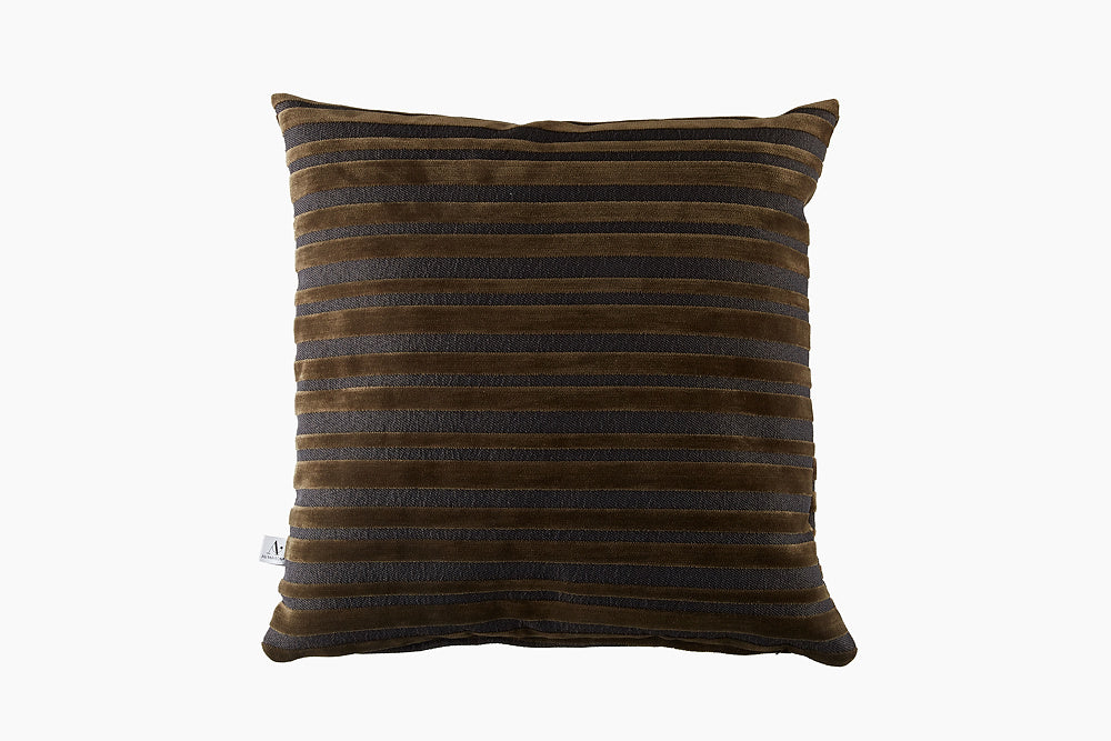 dark olive velvet cushion