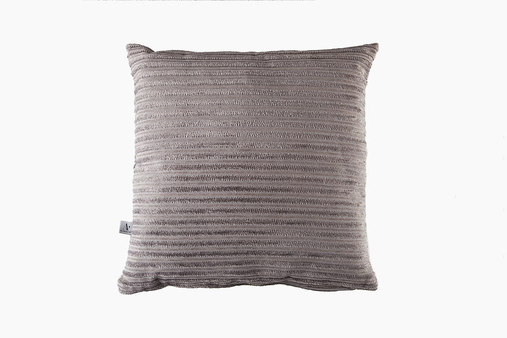 two tone striped grey cushion