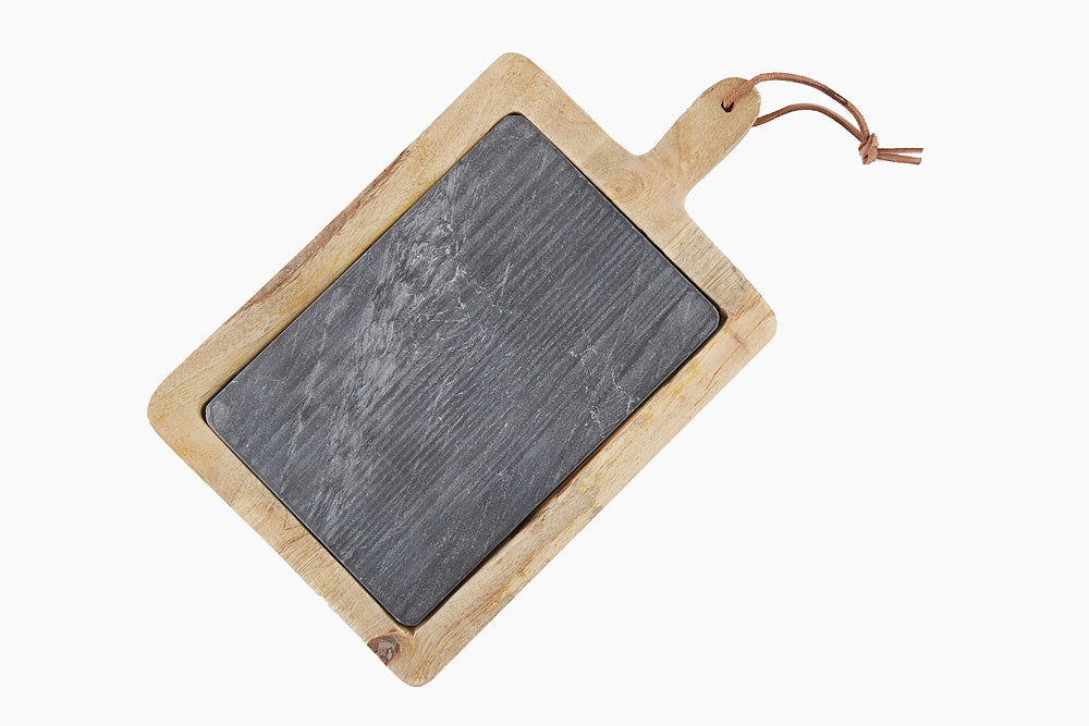 mango wood and slate chopping board
