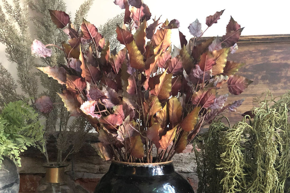 Artificial Autumn Leaves Spray