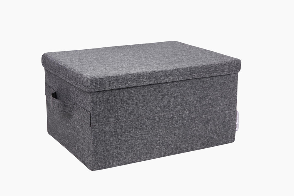 Soft Grey Storage Box by Bigso Sweden
