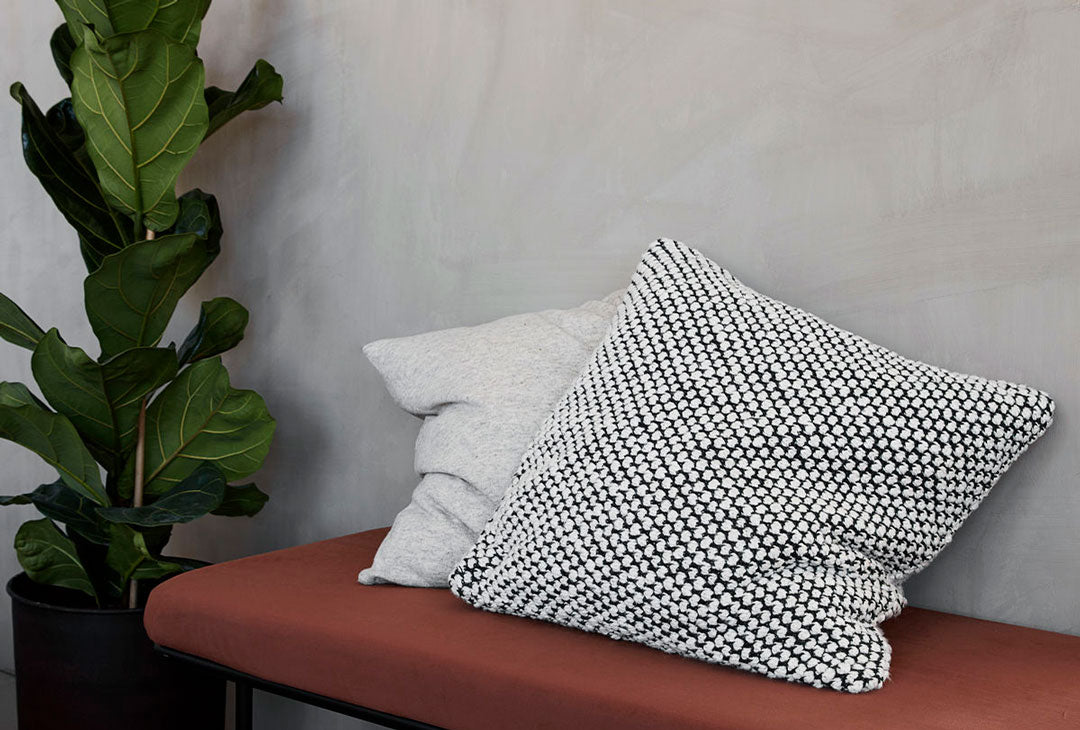 Mio Black and grey cushion by House Doctor