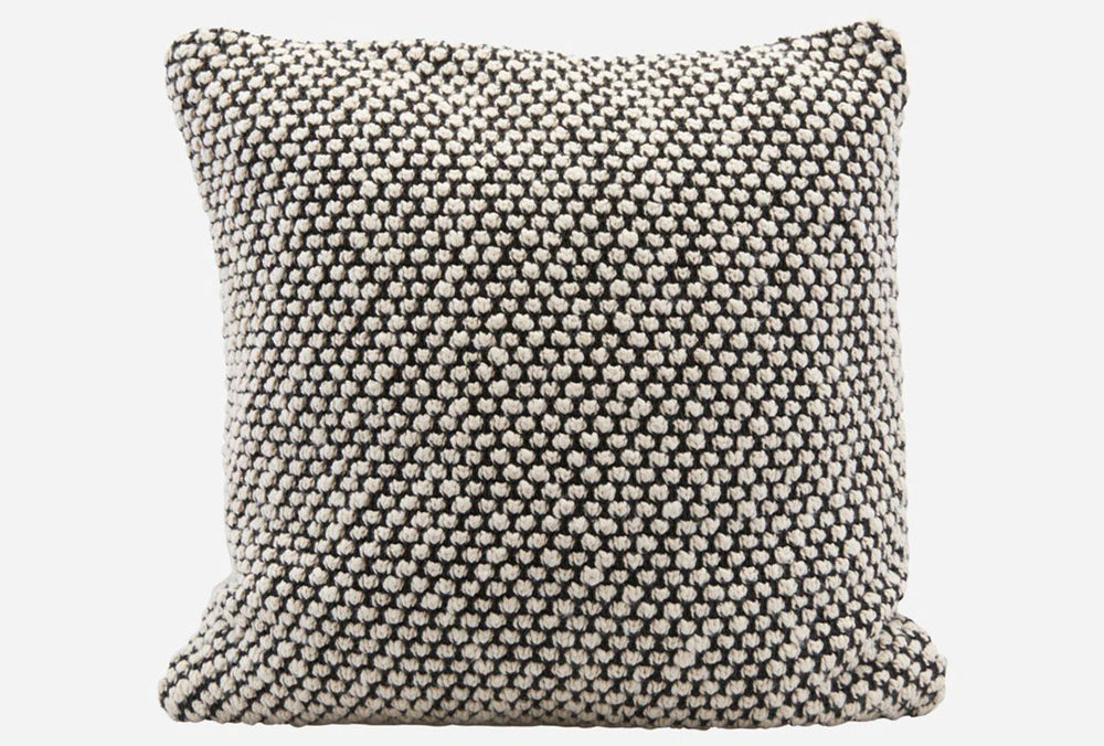 black and grey House Doctor Cushion