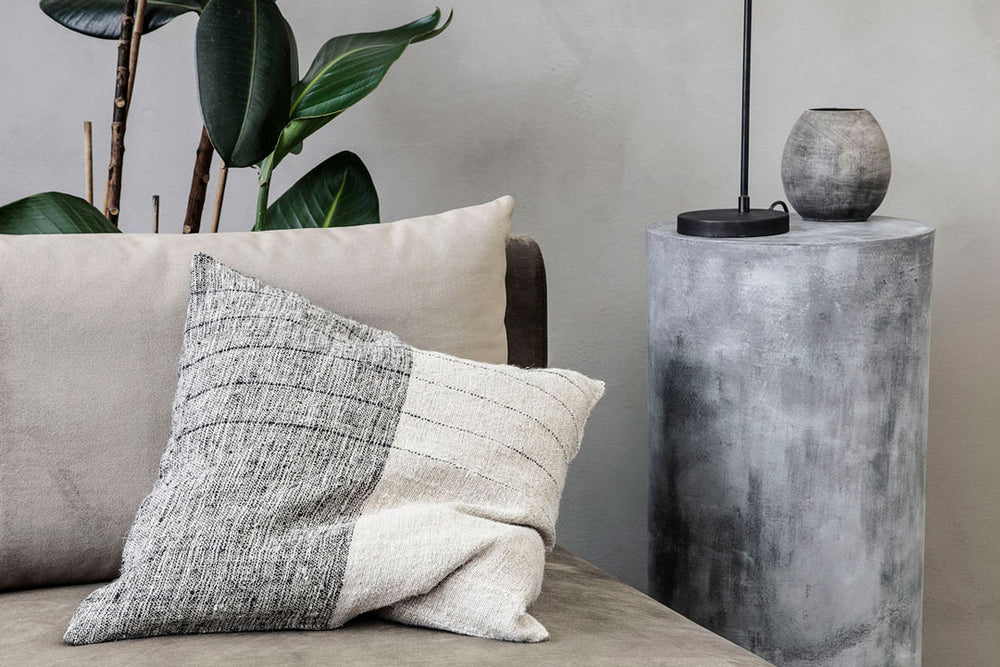 black and neutral cushion Lifestyle