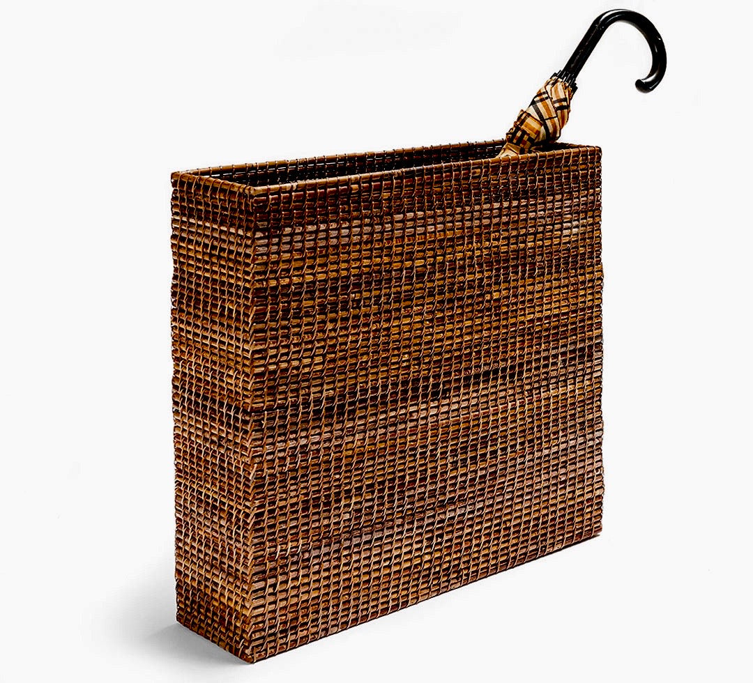 Rattan Umbrella Basket Natural Finish
