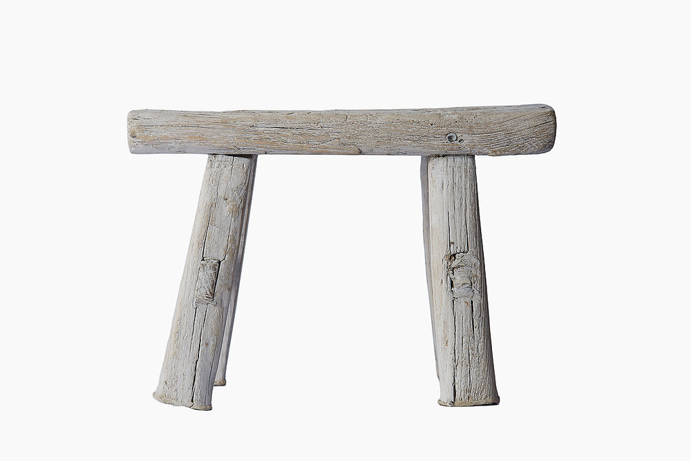 Silver Grey Chinese Stool