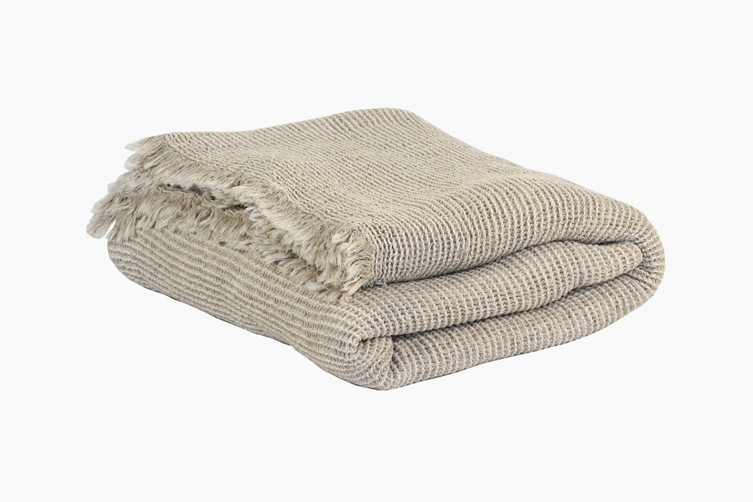natural cotton/ linen throw