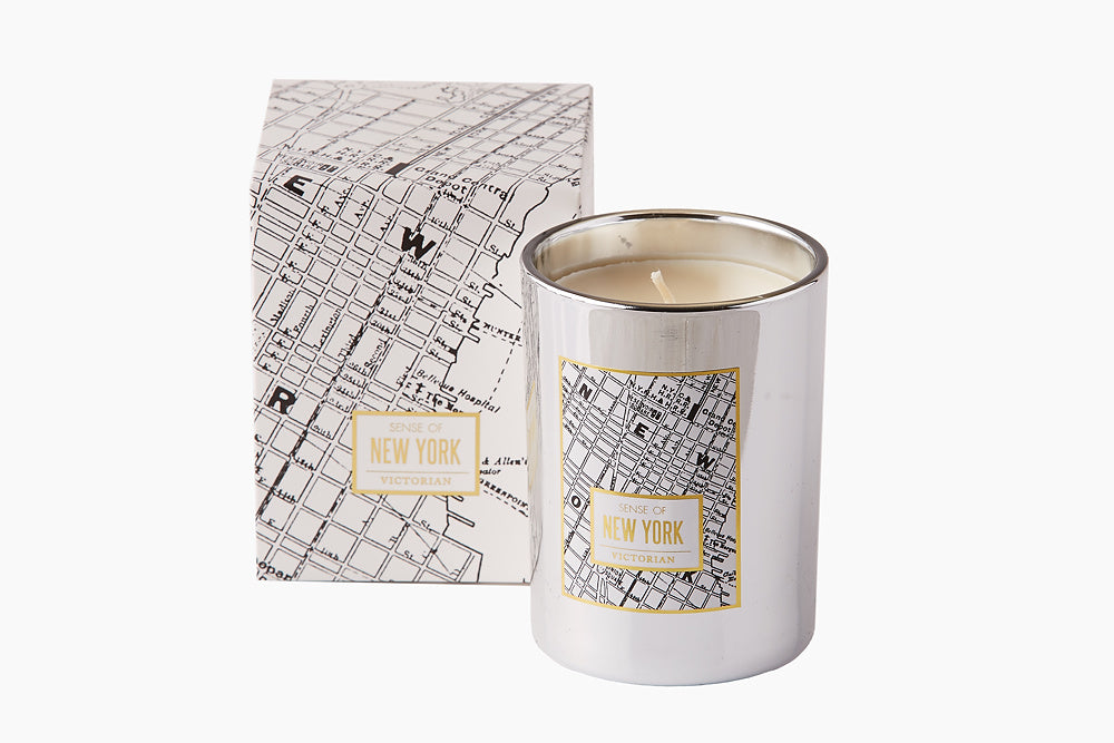 Victorian New York Map Candle by On Interiors