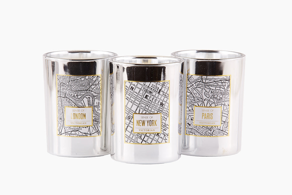 Victorian Paris Map Candle by On Interiors