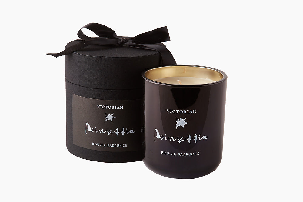 Victorian Luxury Poinsettia Candle by On Interiors