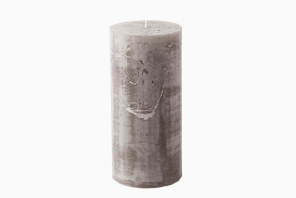 Grey Pillar Candle by Cozy Living
