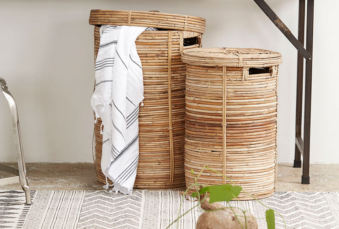 Bamboo Laundry Basket by House Doctor