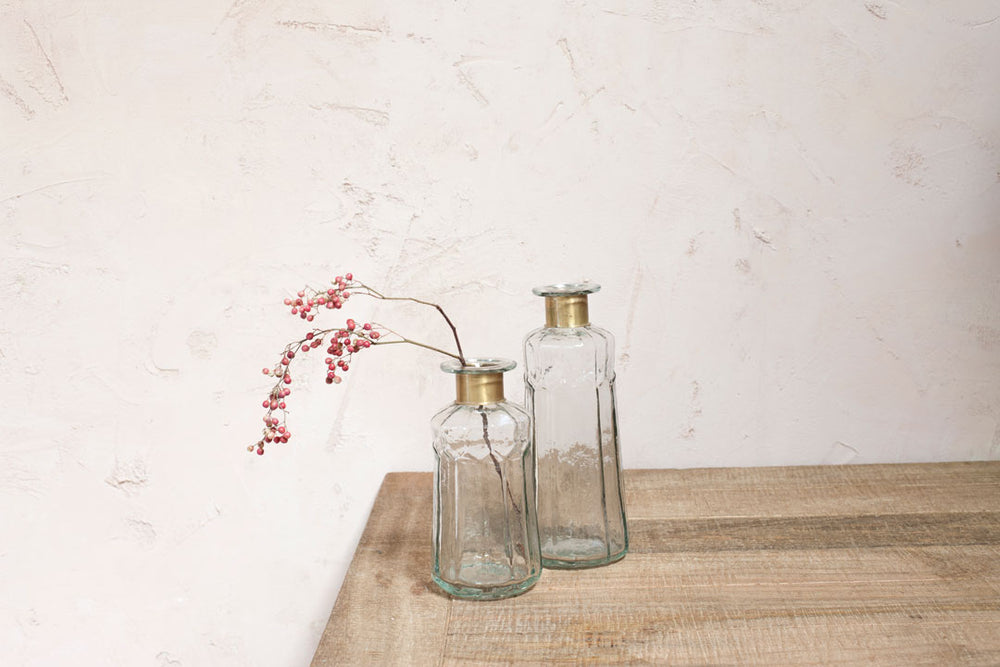 Chara Hammered Bottle Vase