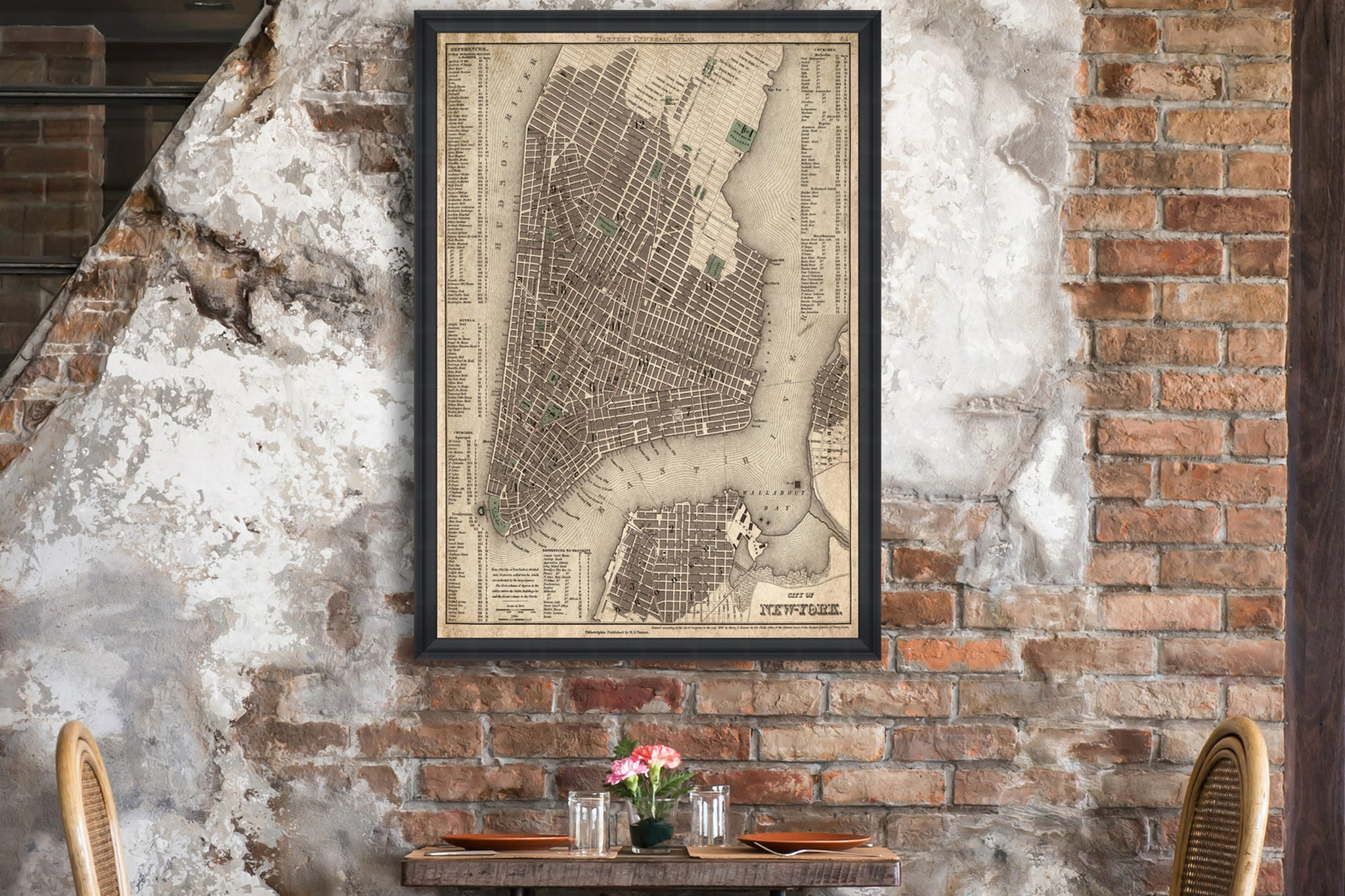 Vintage New York Map Print by Mind The Gap