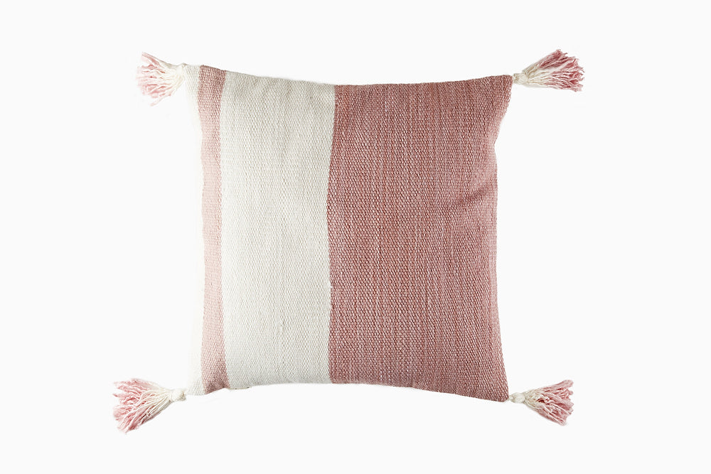 blush and cream cushion