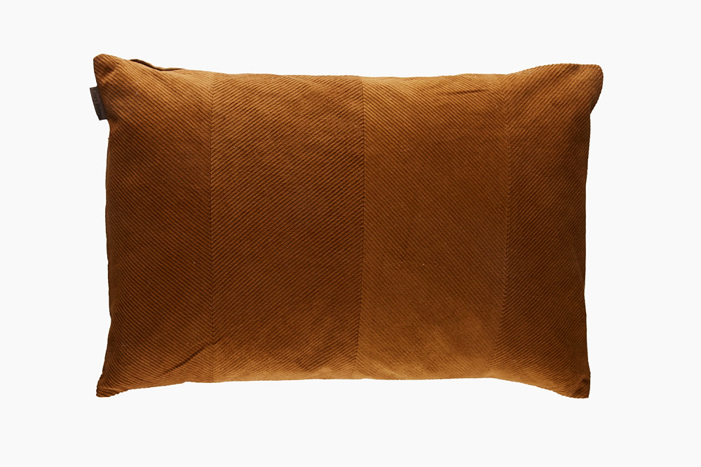 corduroy dark mustard cushion