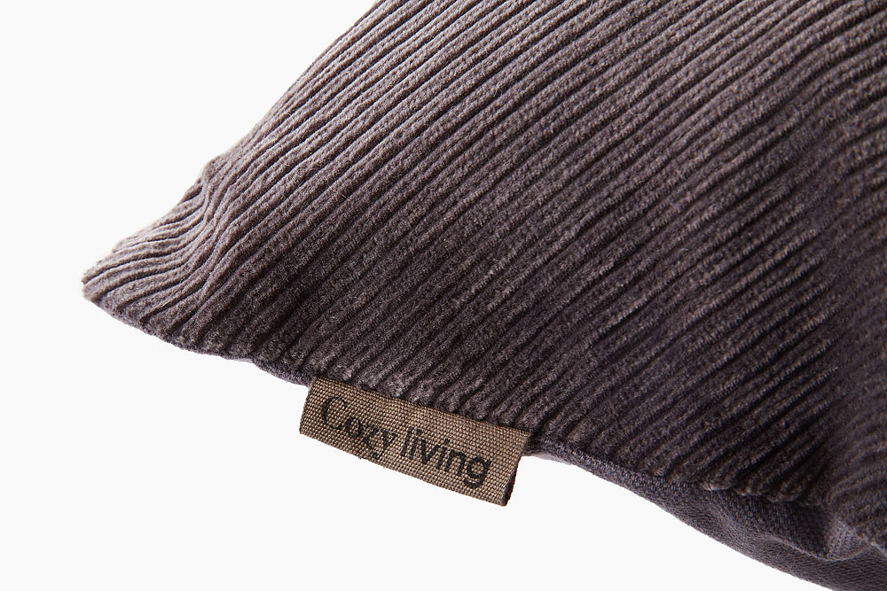 charcoal herringbone corduroy cushion