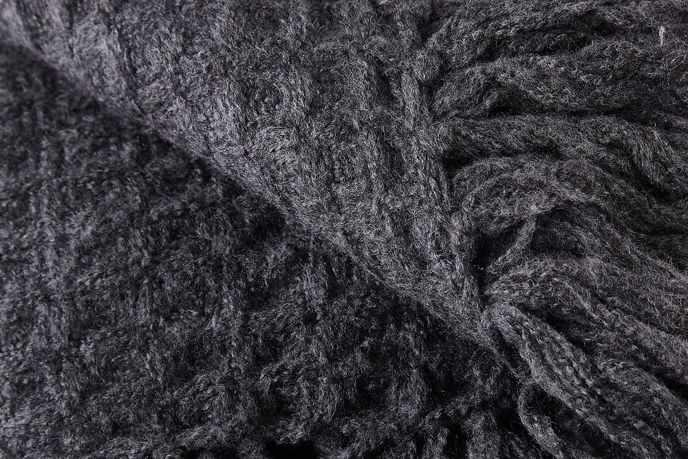 dark grey throw