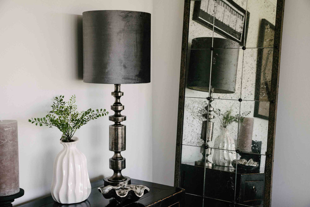 dark black nickel lamp
