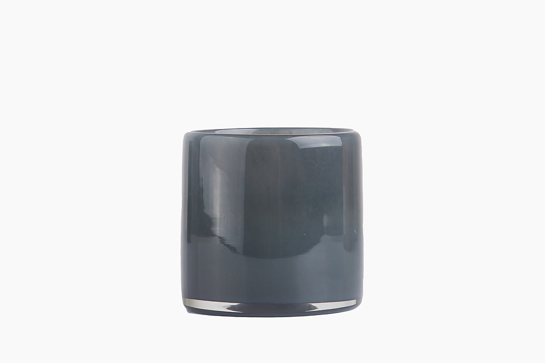Lyric Candle Holder in Dark Grey