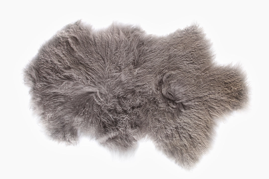 Mongolian Lambskin in Cement Grey by Lene Bjerre