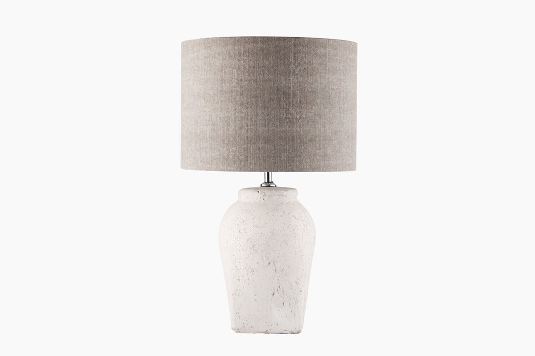 Soft Grey Table Lamp by Light and Living