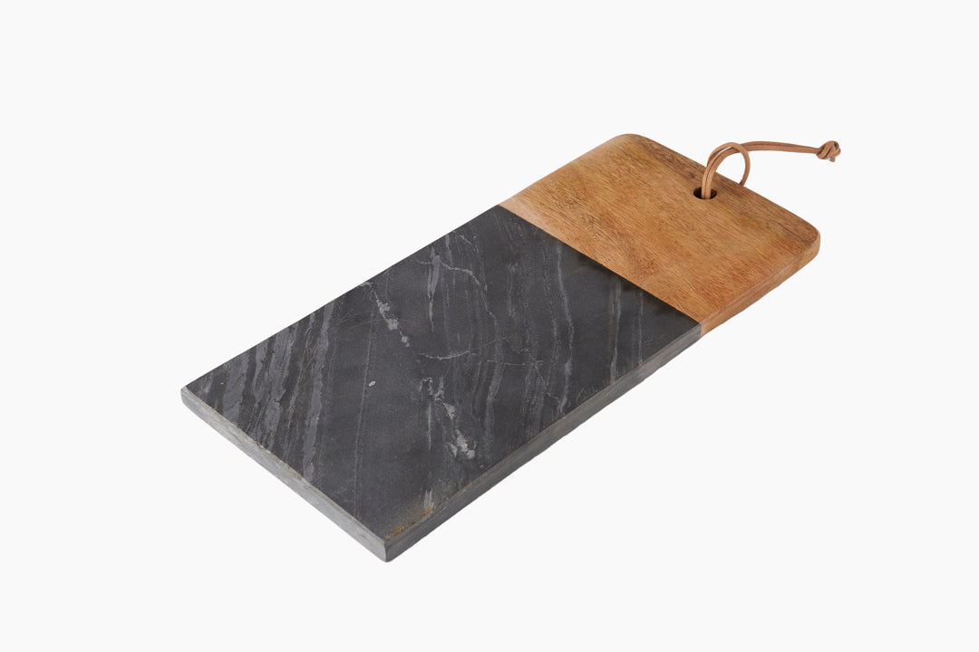 Slate & Hardwood Chopping Board by Au Maison