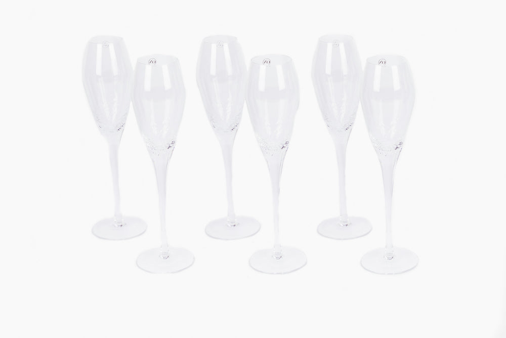 tall champagne glass