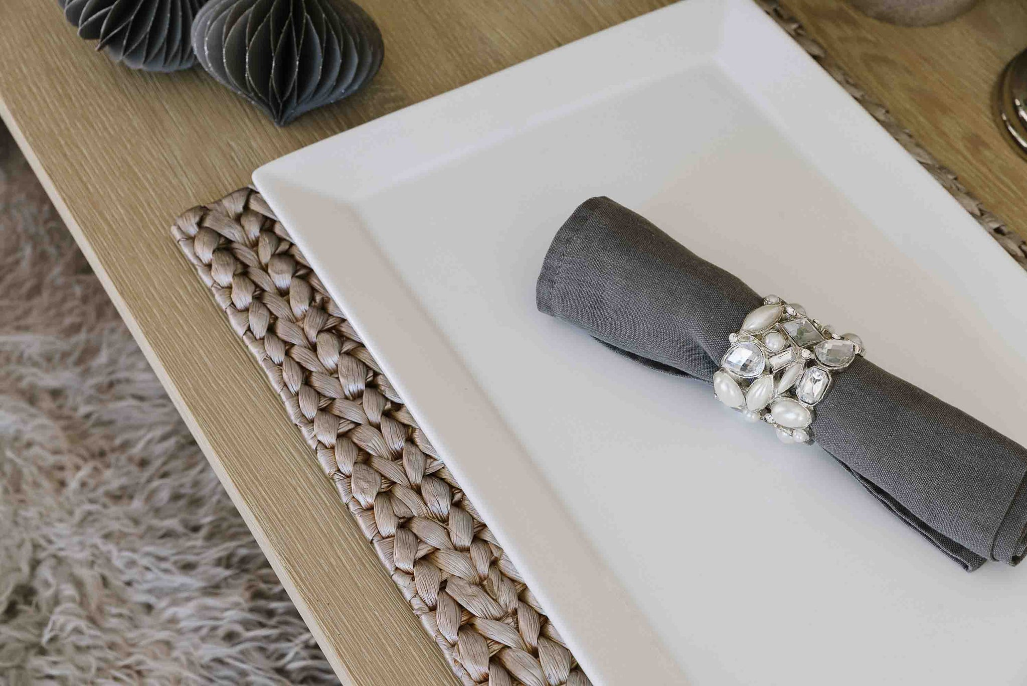 Jewelled Napkin Rings - Comet by India Jane